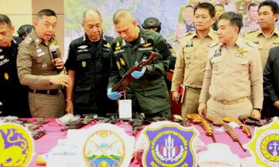 Krabi drug officers crack down on drugs and firearms | The Thaiger