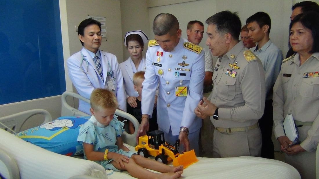 His Majesty sends flowers to five year old attacked by dogs in Krabi   The Thaiger
