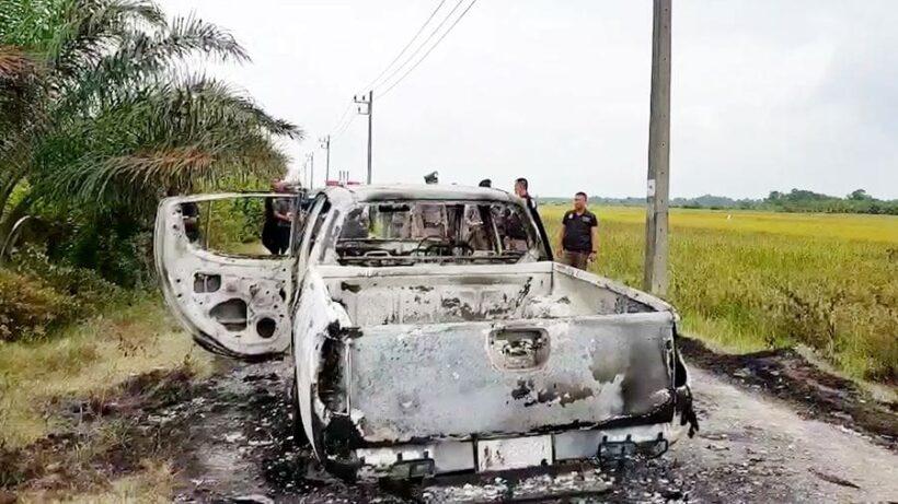 โจรใต้เหี้ยม บุกร้านน้ำชา จ.นราธิวาส อุ้ม 2 ตำรวจ ก่อนยิงทิ้งศพลงคูน้ำ | The Thaiger