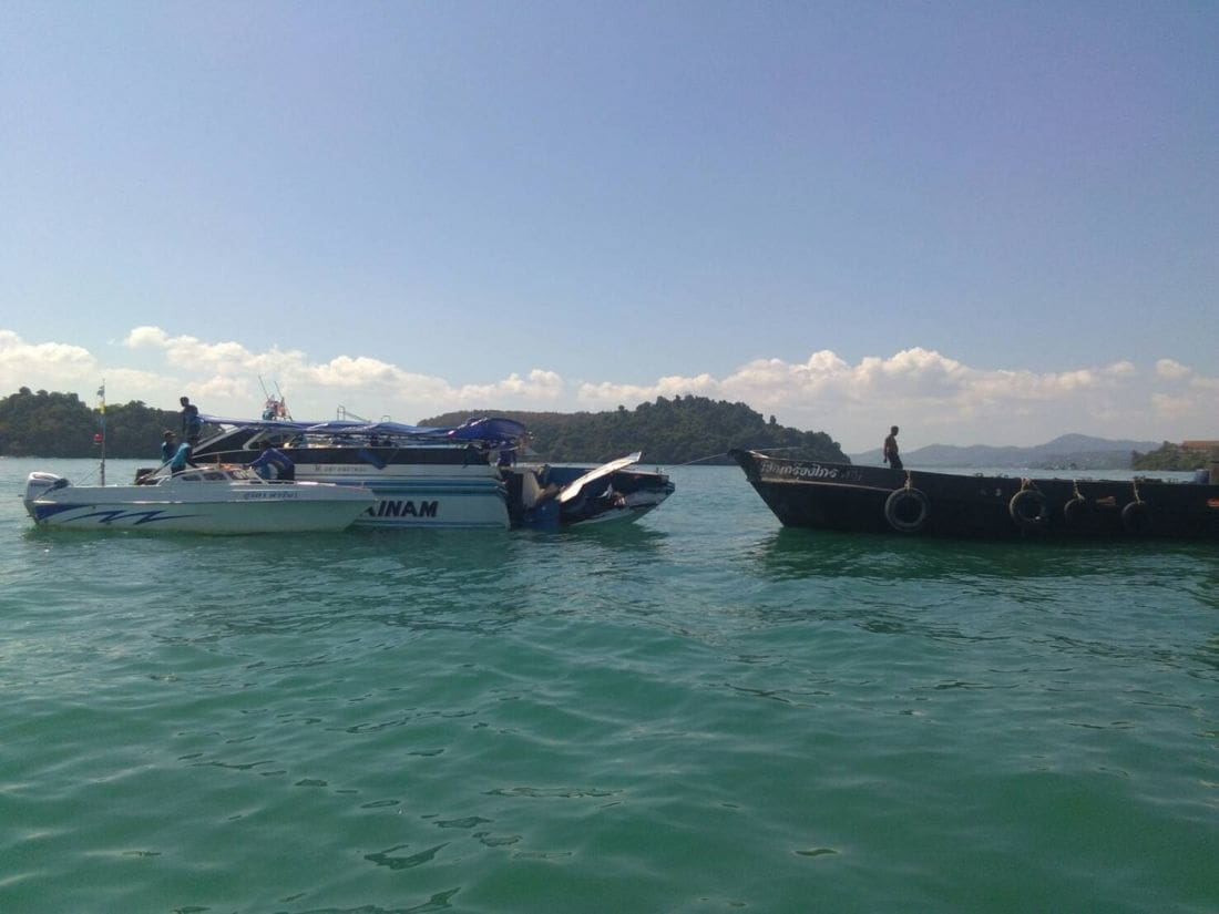 UPDATE: An 'engine malfunction' blamed for boat collision off Phuket | Thaiger