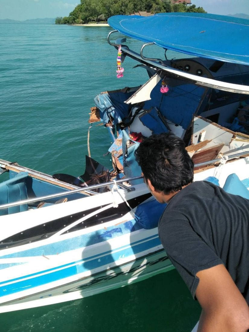 UPDATE: An 'engine malfunction' blamed for boat collision off Phuket | News by The Thaiger