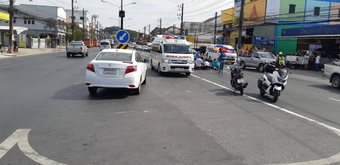 Motorbike driver dies after colliding with sedan on Thepkasattri Road, Phuket   The Thaiger