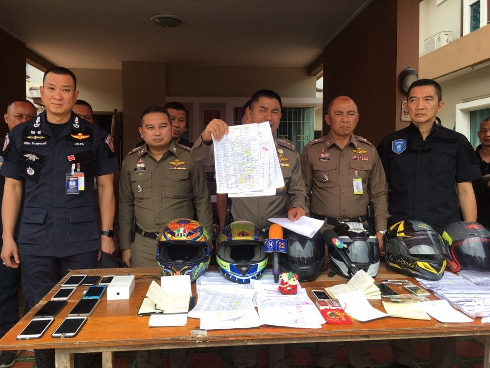 14 arrested in money-lending network raid | The Thaiger