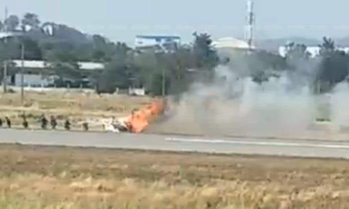 Helicopter crashes in Nakhon Sawan | News by Thaiger