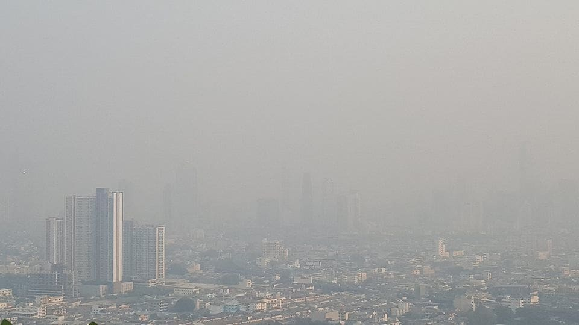 ฝุ่นละออง PM2.5 พุ่งสูงอีกรอบ กรุงเทพอ่วม อากาศแย่ติดอันดับ 9 ของโลก   The Thaiger