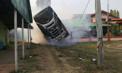 19 injured after bus crashes into Sa Kaeo property | The Thaiger