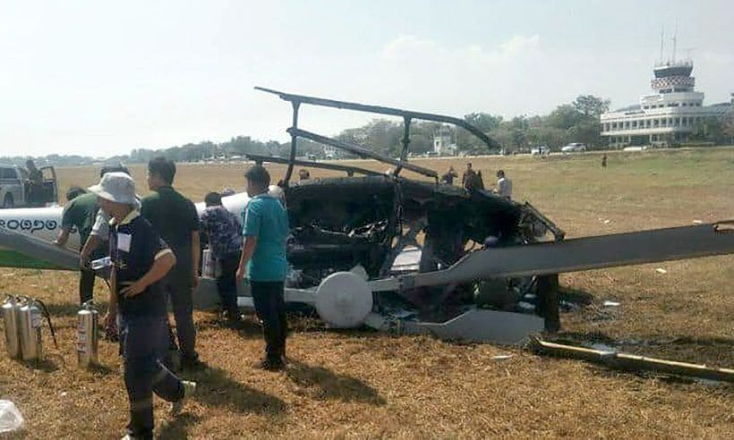 Helicopter crashes in Nakhon Sawan   The Thaiger