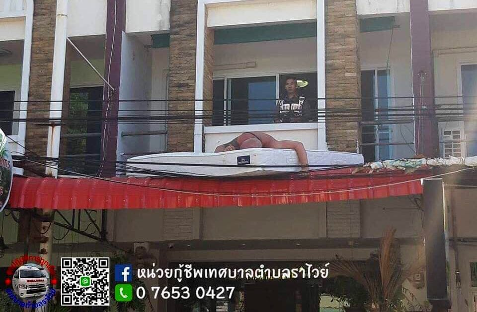 Phuket tourist decides hotel awning more comfortable than his room | News by The Thaiger