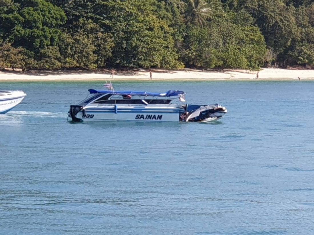 UPDATE: An 'engine malfunction' blamed for boat collision off Phuket | News by Thaiger