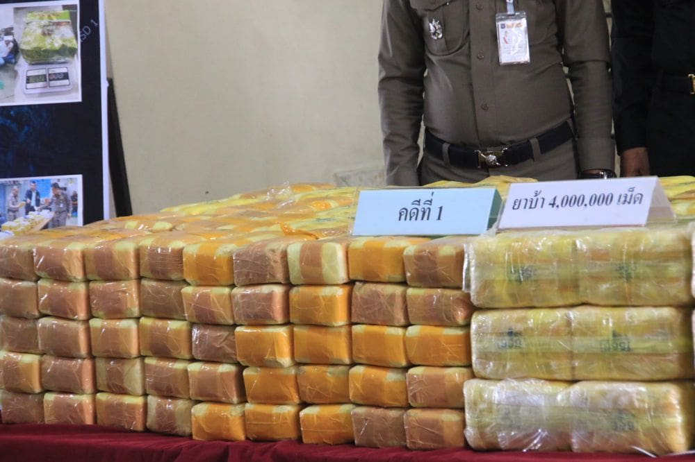 Seven drug busts net 10 million meth pills, 4 kg of heroin | The Thaiger