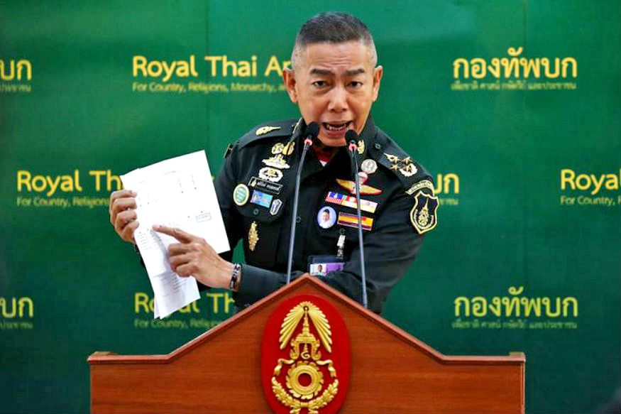 Army Chief spits the dummy and orders the playing of military song | The Thaiger