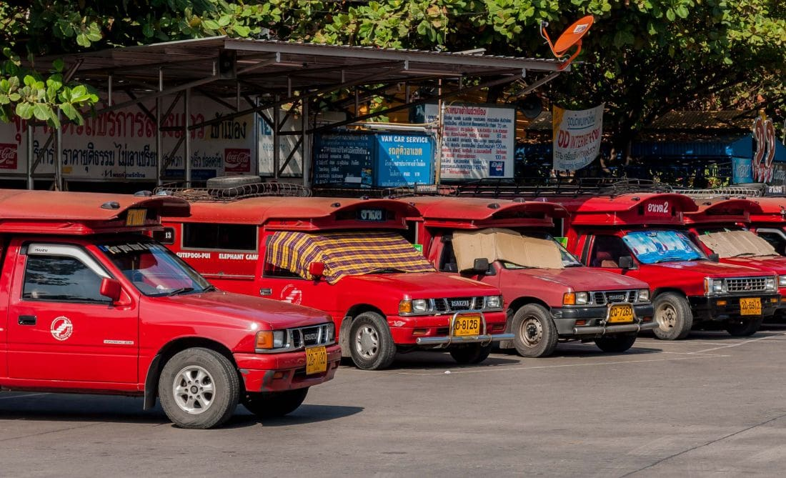 """""""Red buses are a rip-off. We'd rather use Grab or Uber"""" – Chiang Mai 