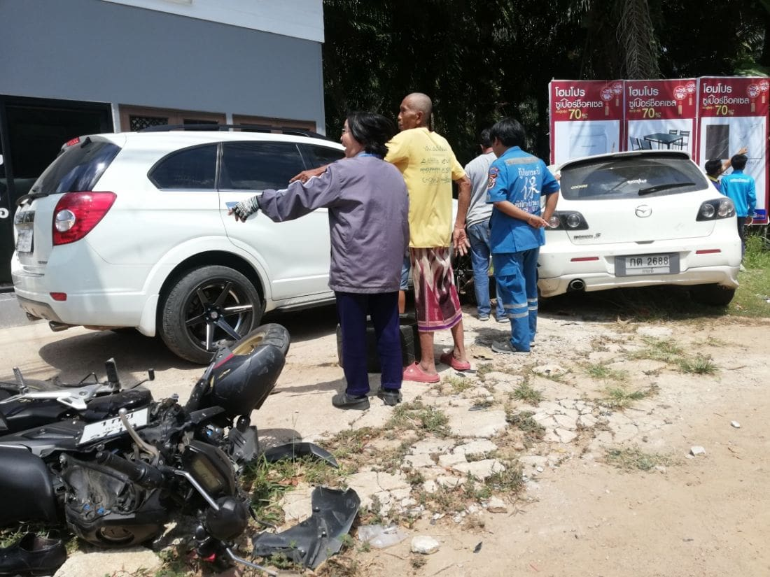 "Motorbike driver ""flew five metres"" in Krabi road incident 
