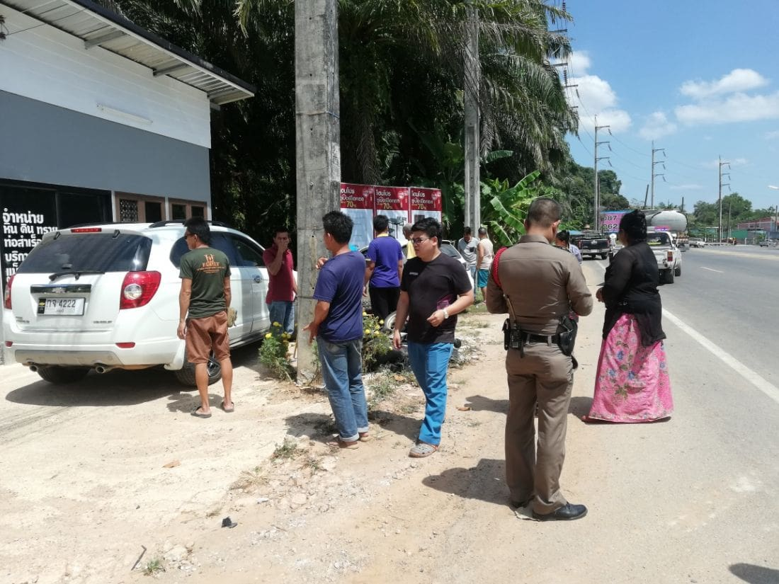 """Motorbike driver """"flew five metres"""" in Krabi road incident 