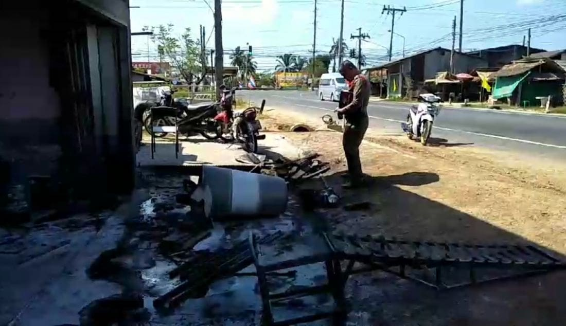 Man injured, chicken dead after explosion of oil tank in Krabi | News by The Thaiger
