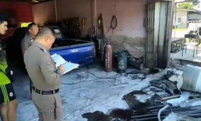 เจ้าของร้านทำท่อรถใช้ไฟแก๊สเจาะถังน้ำมัน 200 ลิตร ติดก๊อกน้ำ ระเบิดสนั่นคนเจ็บ | The Thaiger
