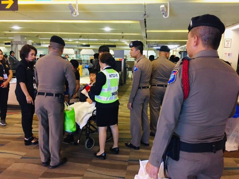 Two injured Chinese tourists head home | The Thaiger