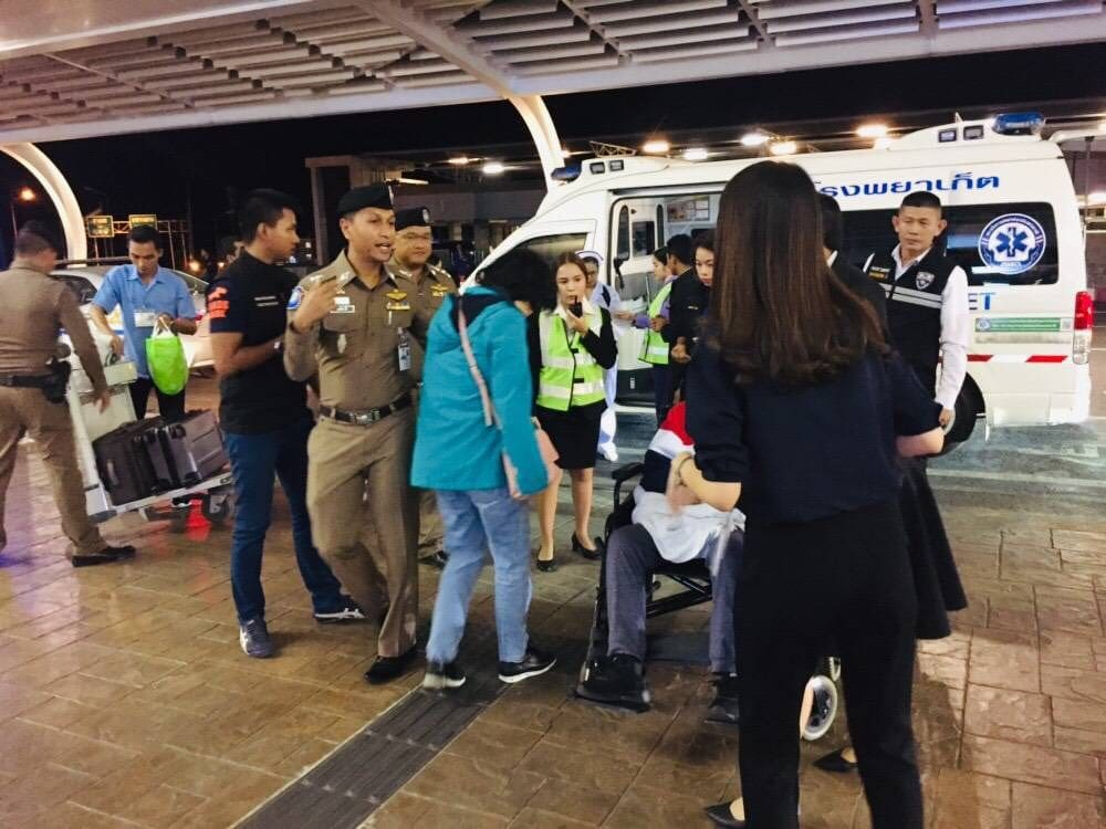 Two injured Chinese tourists head home | News by The Thaiger