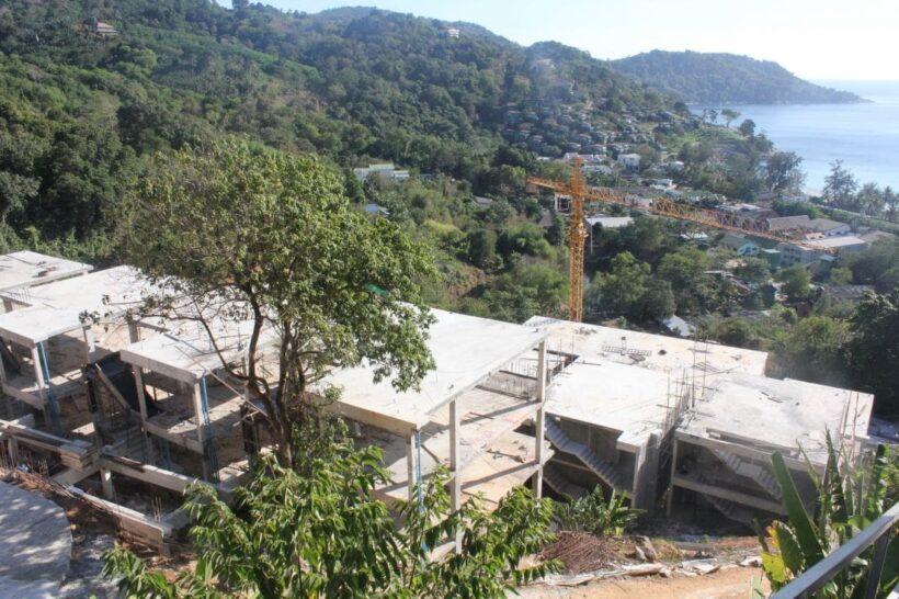 Construction of luxury condo development in Kata continues despite local protests | The Thaiger