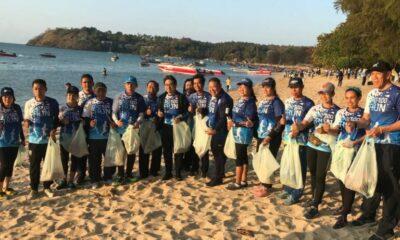 """กกท.รวมพลังองค์กรส่วนท้องถิ่น วิ่งเก็บขยะ """"SAT Eco Run รักษ์ชายหาดราไวย์ ปันน้ำใจสู่ชาวเล""""   The Thaiger"""