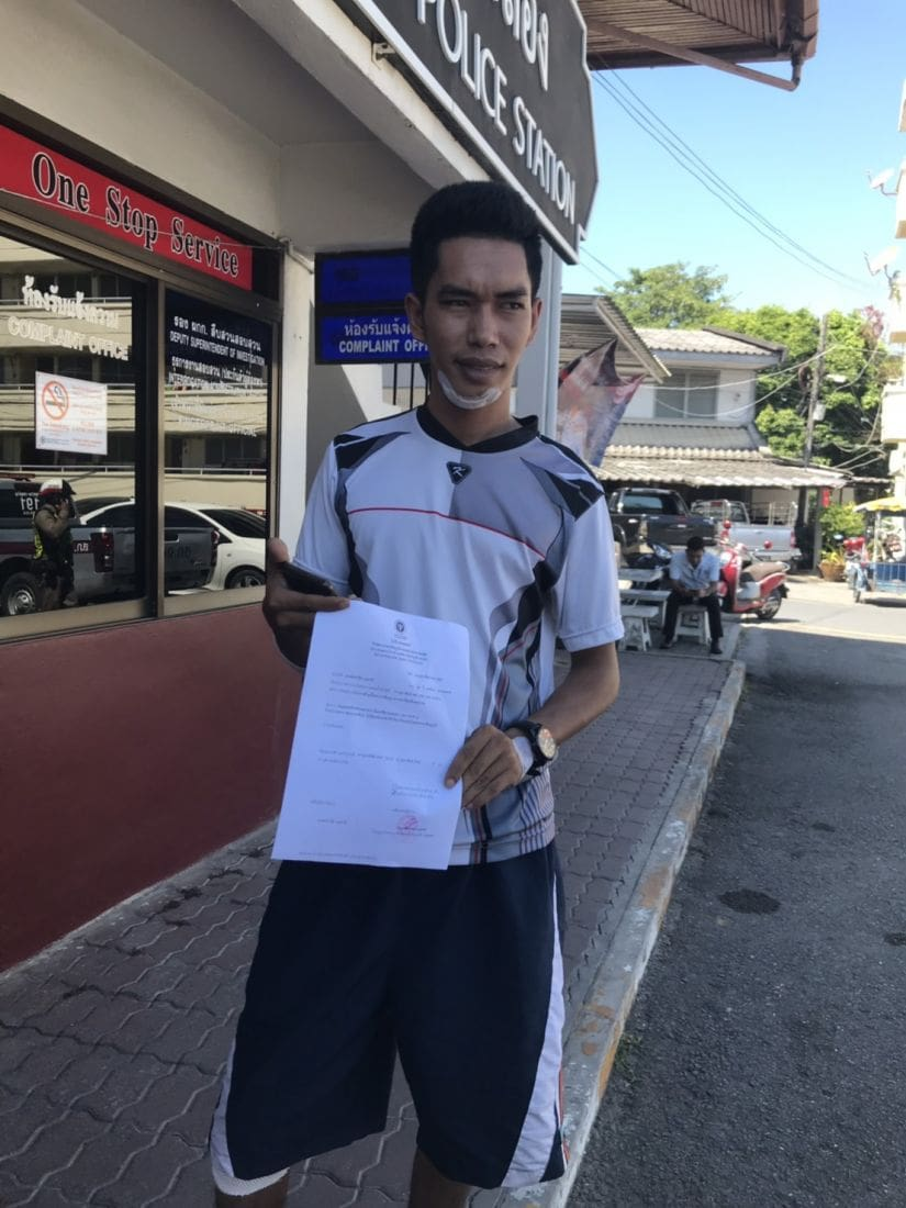Motorbike driver files official complaint after accident from fallen cables in Kata   News by The Thaiger