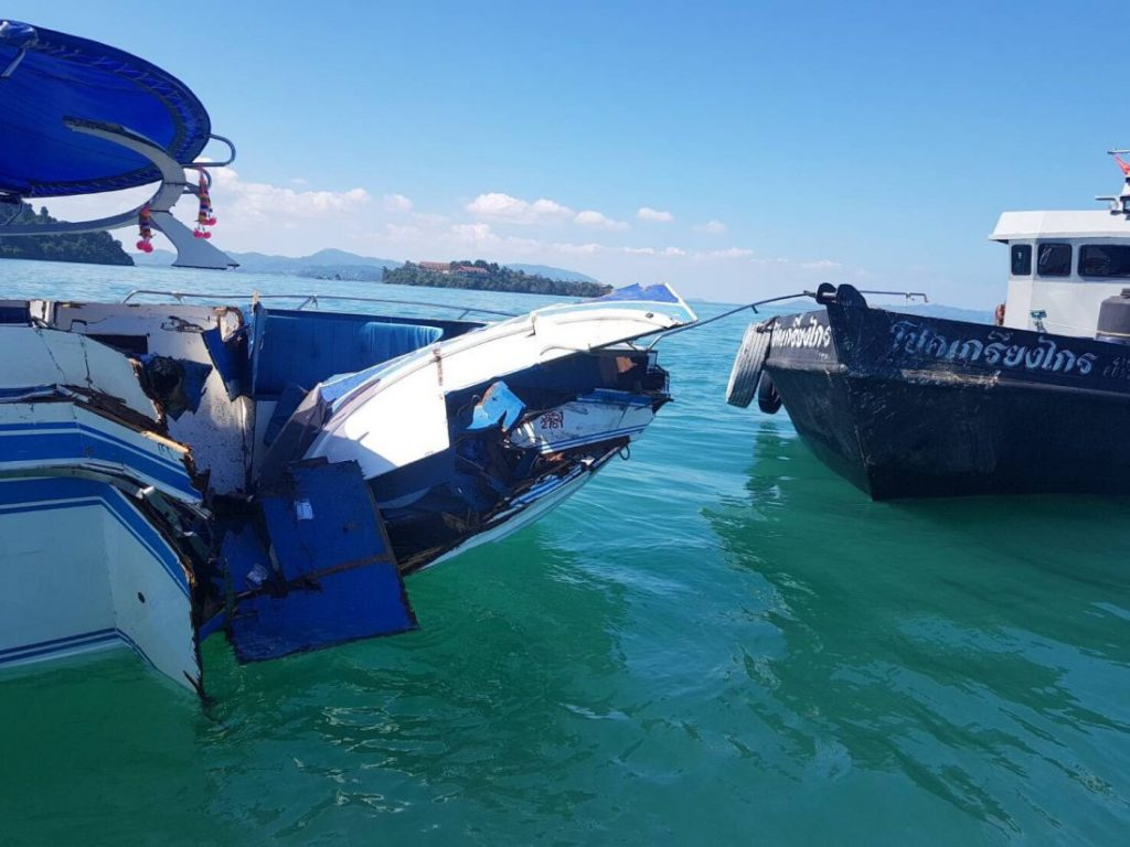 UPDATE: Speedboat captain charged, two Chinese tourists remain in hospital   The Thaiger