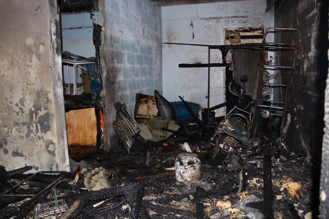 Fire destroys house in Phuket Town in an alleged arson attack | News by The Thaiger