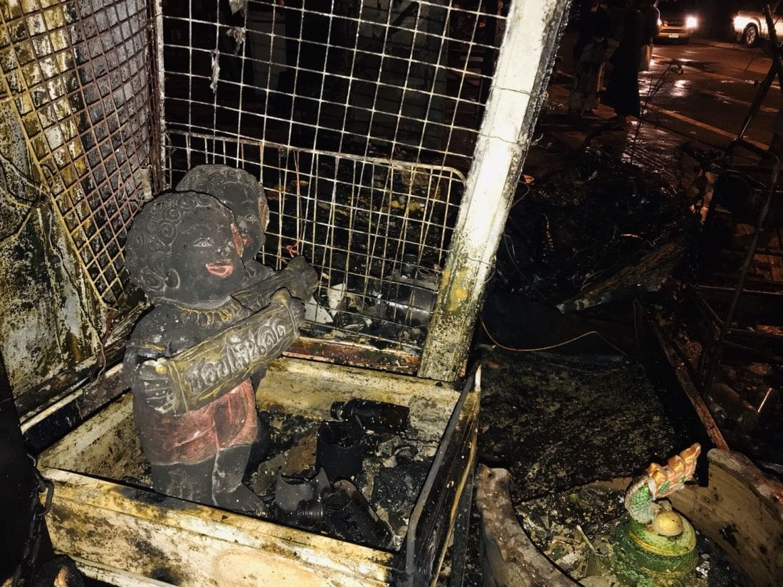 Fire destroys house in Phuket Town in an alleged arson attack | News by Thaiger
