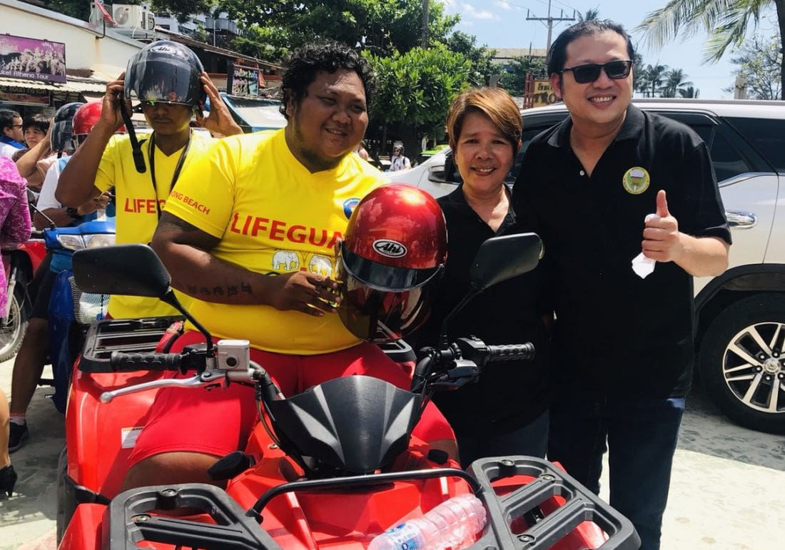 500 free helmets handed out to motorbike drivers in Patong | News by The Thaiger