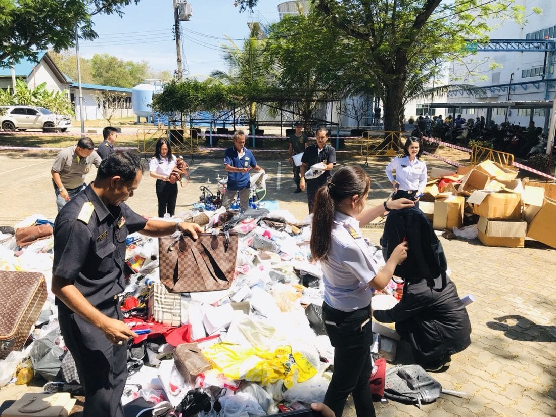 Counterfeit items valued over 1 million baht destroyed | The Thaiger