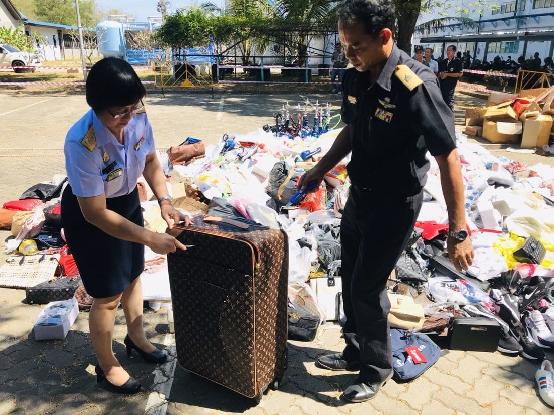 Counterfeit items valued over 1 million baht destroyed | News by The Thaiger
