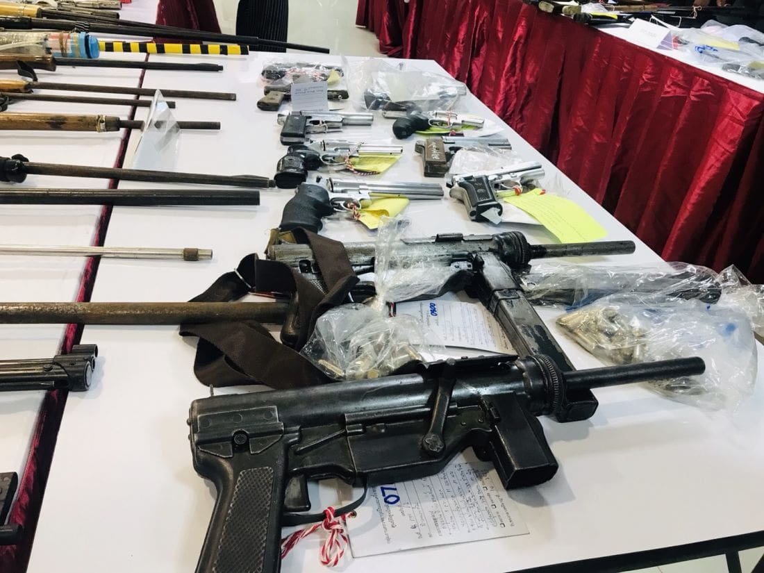 Firearms and drugs seized in southern provinces crackdown | Thaiger