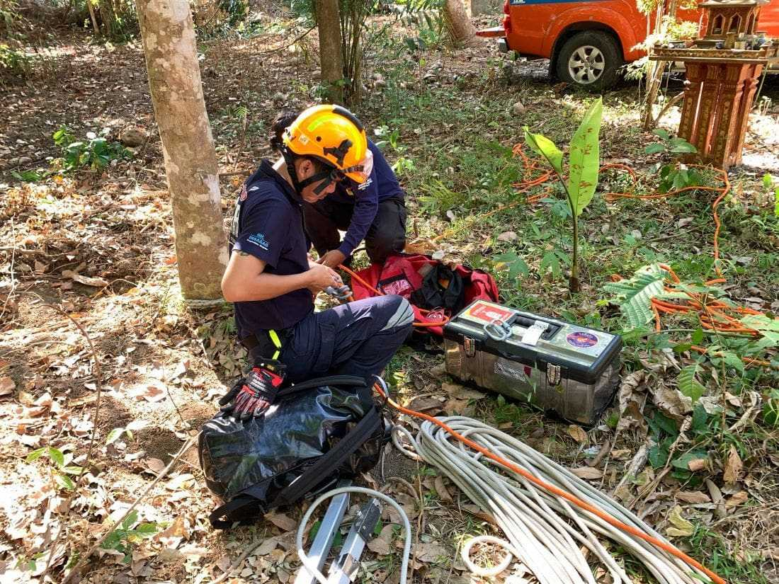 Dog rescued from 10 metre well in Phuket | News by The Thaiger