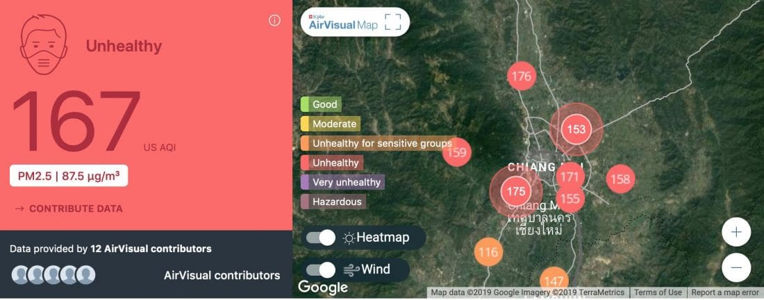 Poor air quality and smoke continue to dog Chiang Mai | News by The Thaiger