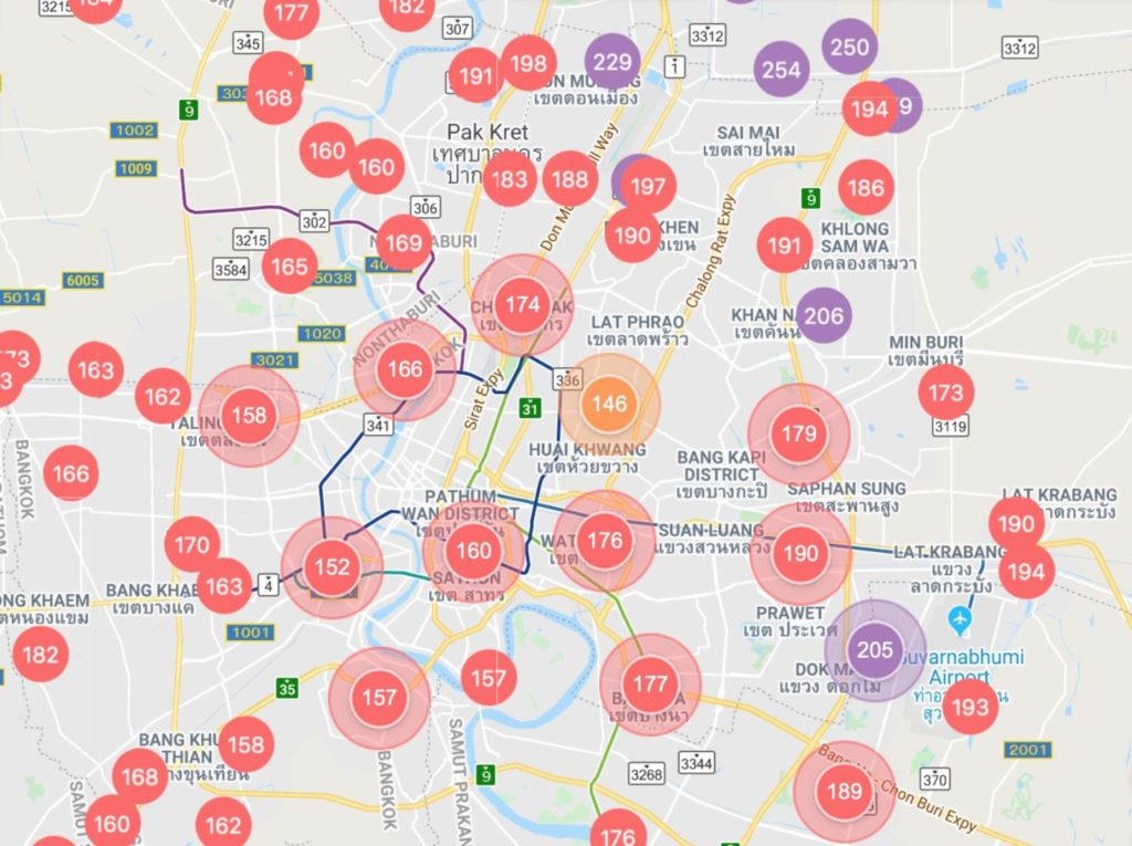 Hazy days and Sundays - Bangkok has fifth highest air pollution in the world | News by Thaiger