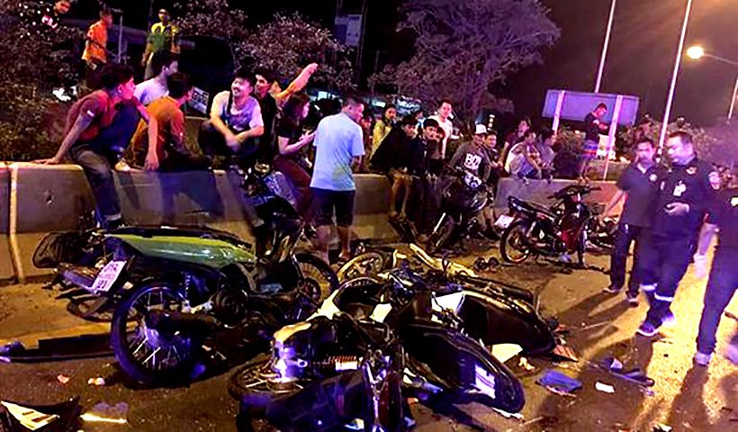 Bangkok street racers collide with one dead and 18 injured | The Thaiger