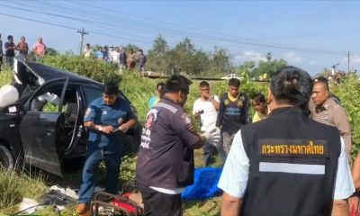 A mother and two young daughters killed when their car is hit by a train | The Thaiger