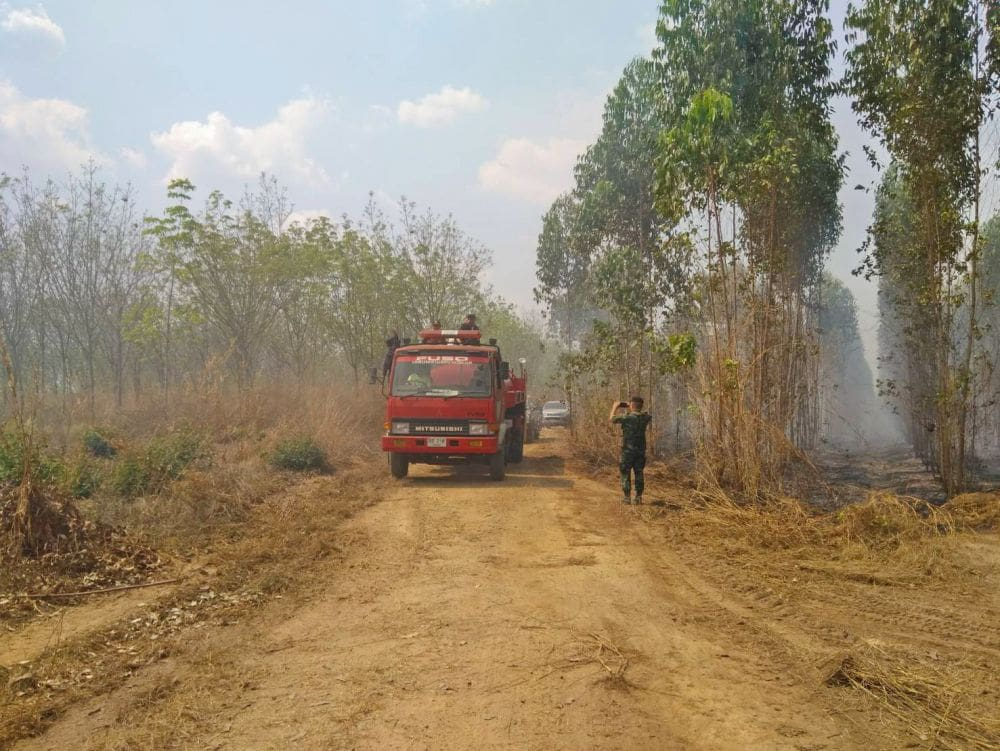 Chacheongsao rubber plantation fire under control after 15 hours   The Thaiger