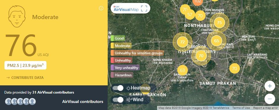 Air quality for Thailand – February 25 | News by Thaiger