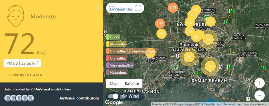 Air quality for Thailand – February 6 | News by The Thaiger