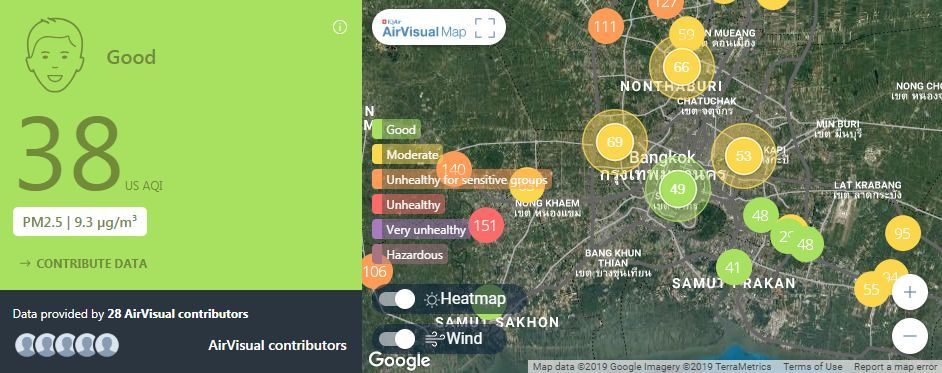 Air quality for Thailand – February 20 | News by The Thaiger