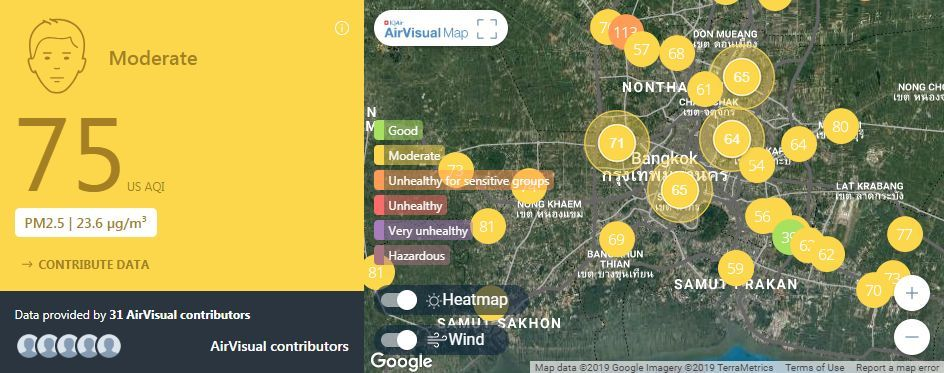 Air quality for Thailand – February 26 | News by The Thaiger