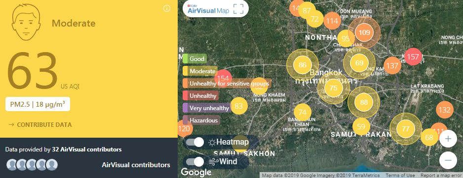 Air quality for Thailand – February 27 | News by The Thaiger