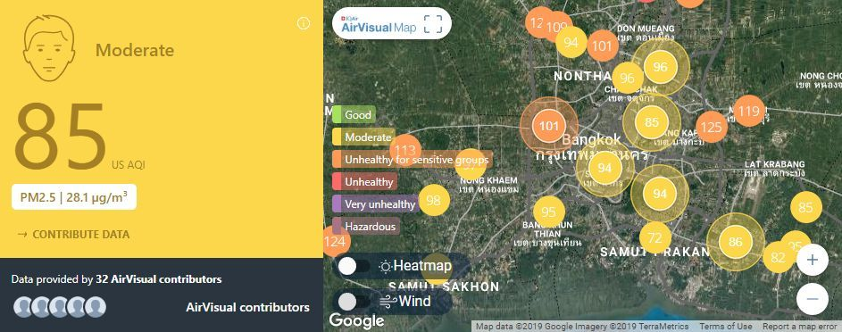 Air quality for Thailand – February 28 | News by The Thaiger