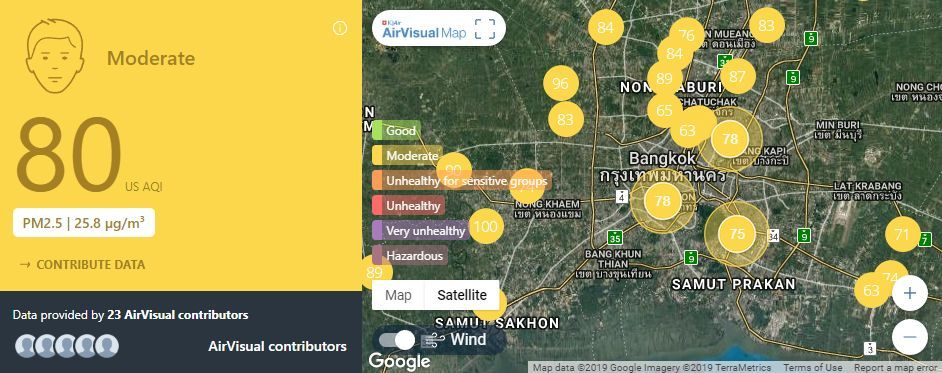Air quality for Thailand – February 7 | News by The Thaiger