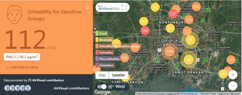 Air quality for Thailand – February 13 | News by The Thaiger