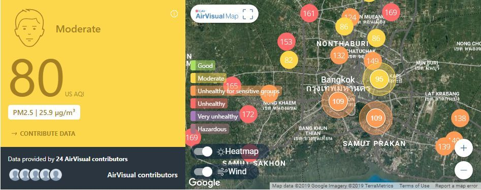 Air quality for Thailand – February 14 | News by The Thaiger