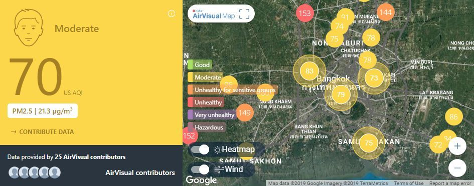 Air quality for Thailand – February 15 | News by The Thaiger
