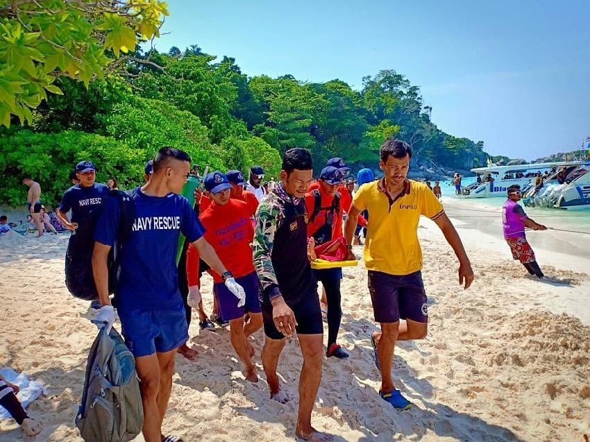 Chinese tourist rescued after choking on water in Koh Similans | The Thaiger