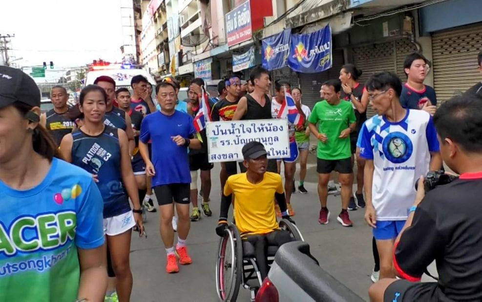 Rolling his way to Narathiwat raising funds for southern hospitals   The Thaiger
